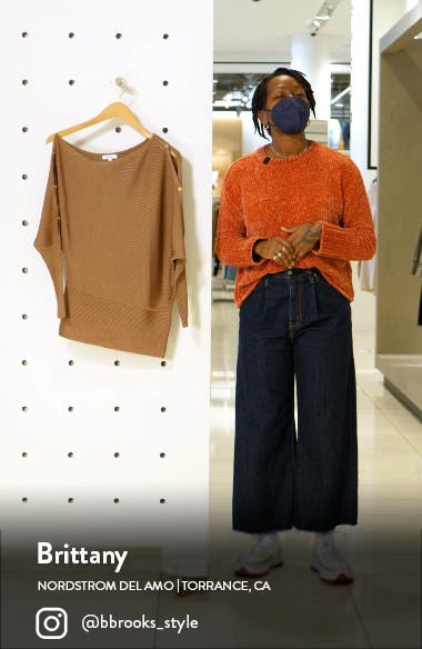 Bloor Ribbed One-Shoulder Sweater, sales video thumbnail