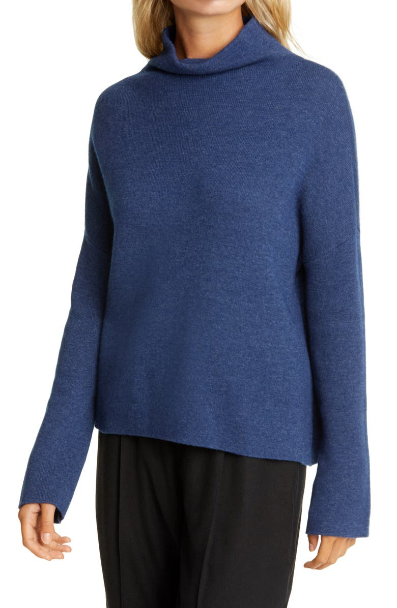 VINCE Funnel Neck Wool & Cashmere Blend Sweater, Main, color, 481