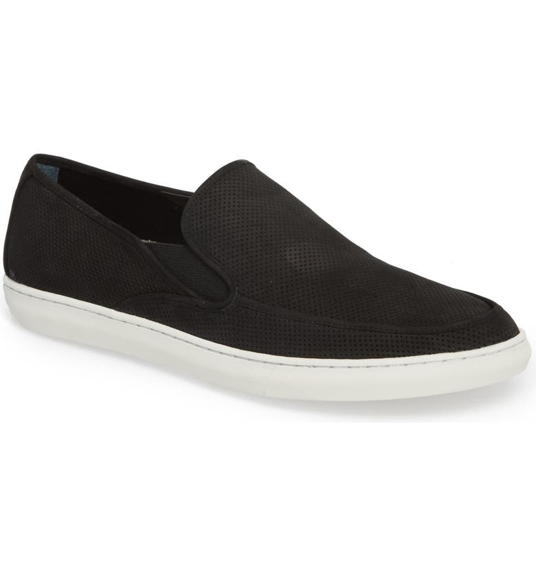 1901 'Venice' Perforated Suede Slip-On, Main, color, 002