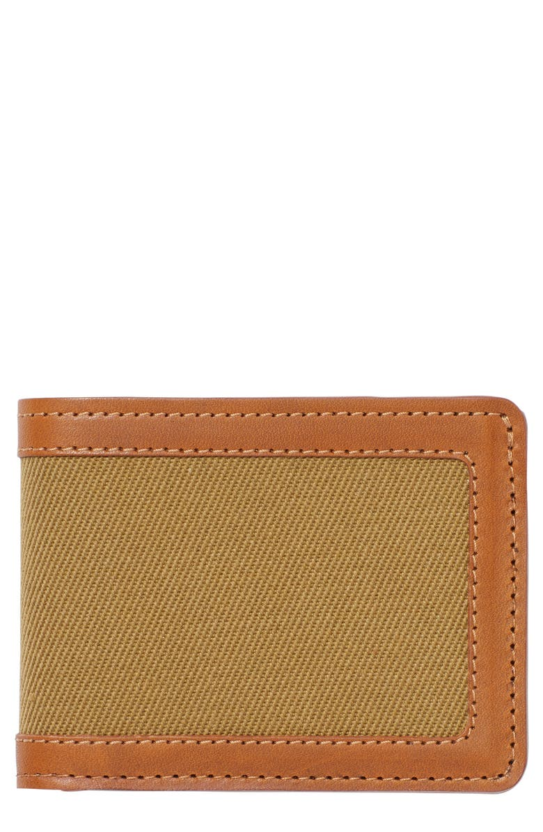 FILSON e Outfitter Leather & Canvas Bifold Wallet, Main, color, 200