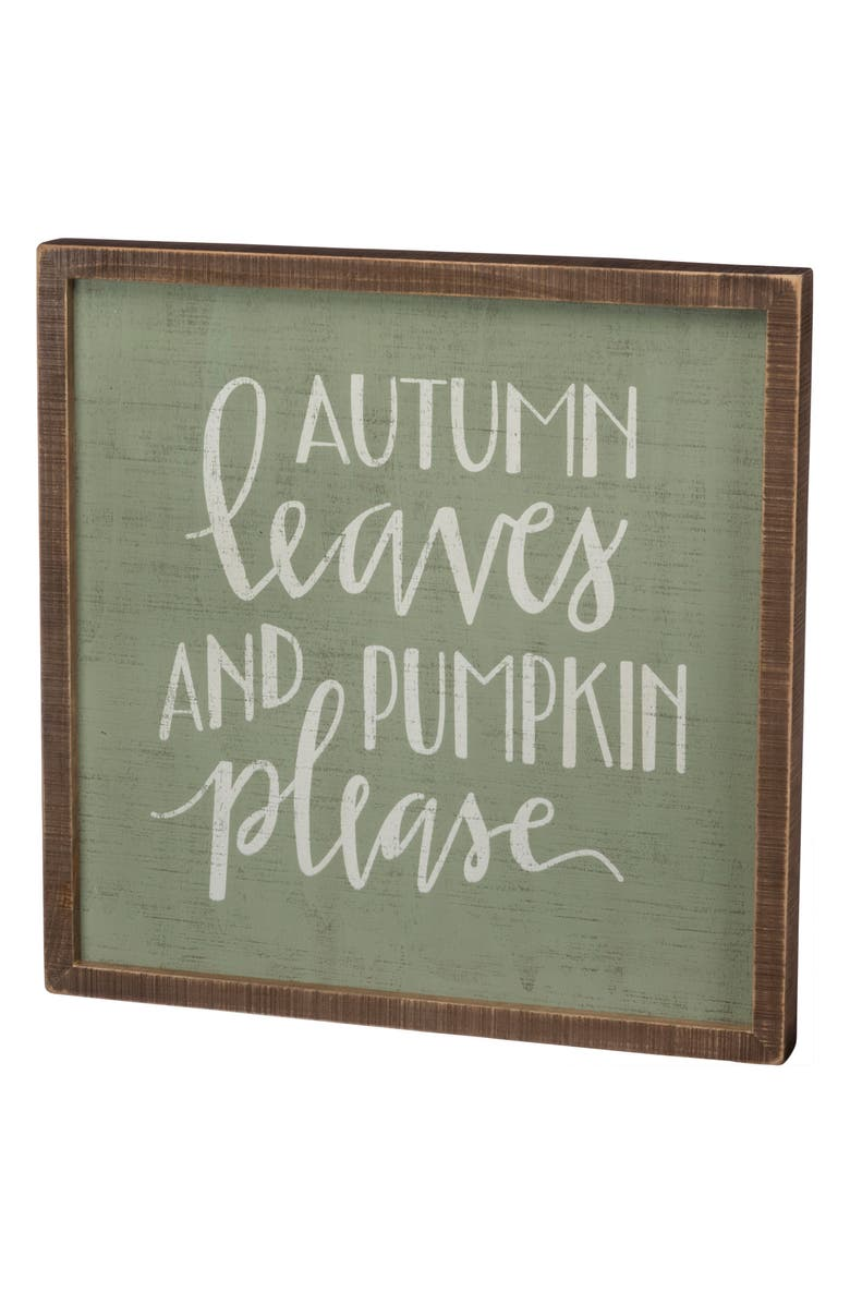 PRIMITIVES BY KATHY Autumn Leaves Inset Box Sign, Main, color, 310