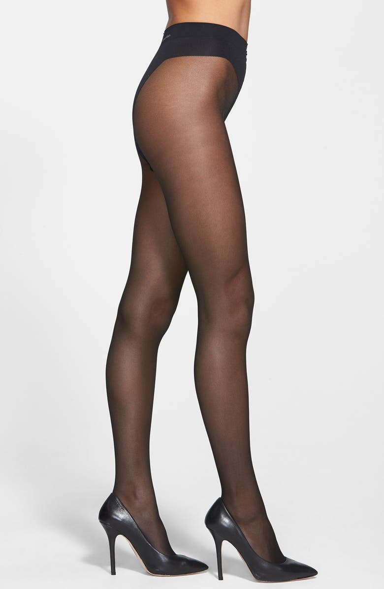 CALVIN KLEIN Tulle Sheer Pantyhose, Main, color, 001