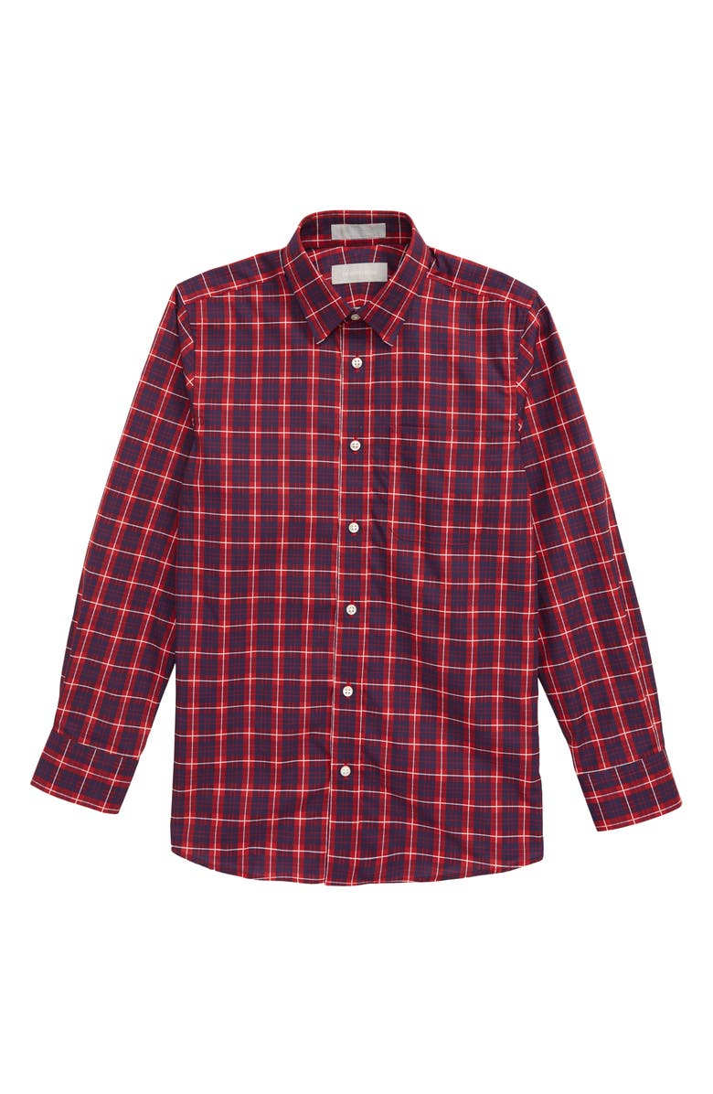 NORDSTROM Plaid Button-Up Dress Shirt, Main, color, 601
