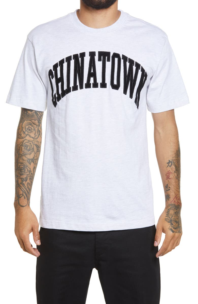 CHINATOWN MARKET Corduroy Logo Graphic Tee, Main, color, 020