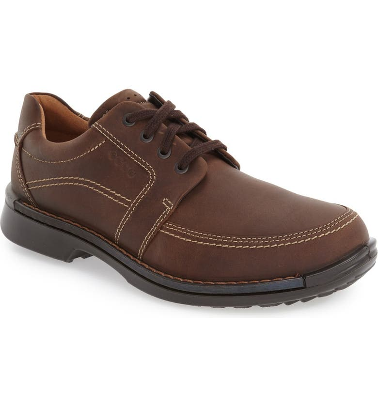 ECCO 'Fusion II' Apron Toe Derby, Main, color, BROWN LEATHER