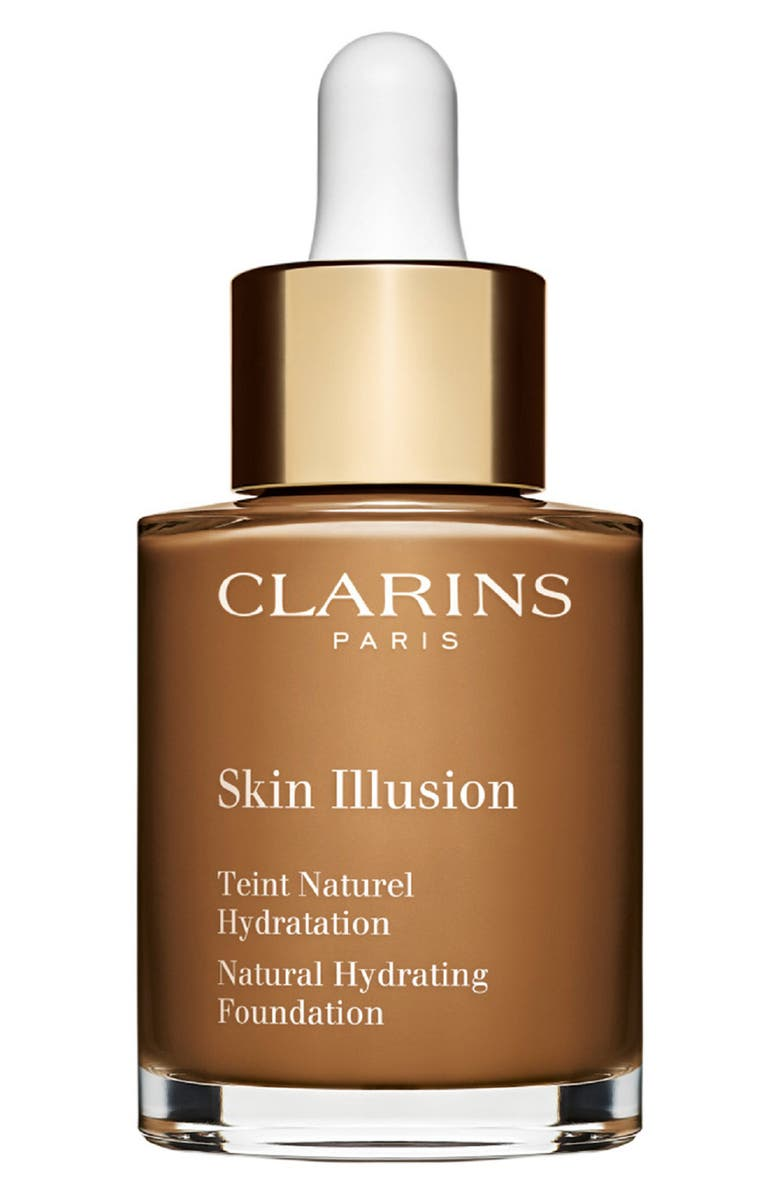 CLARINS Skin Illusion Natural Hydrating Foundation, Main, color, 118.5 - CHOCOLATE