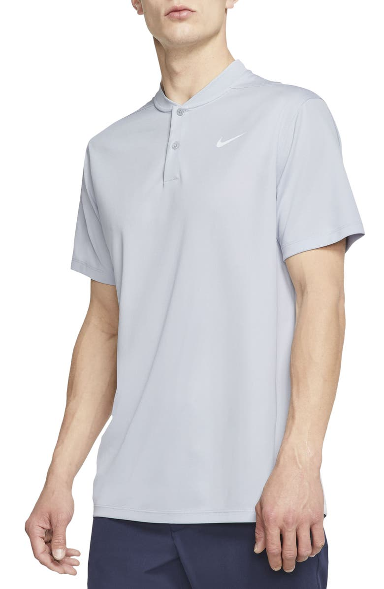 NIKE Golf Dri-FIT Victory Blade Collar Polo, Main, color, SKY GREY/ WHITE