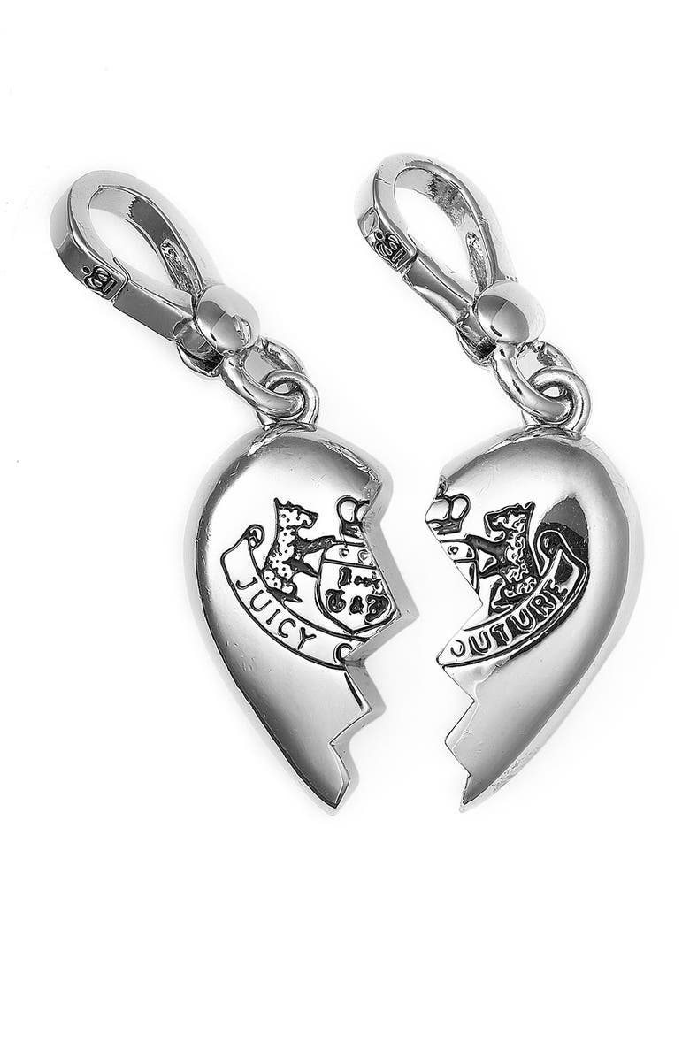 JUICY COUTURE Silver Cupcake Charm, Main, color, 960