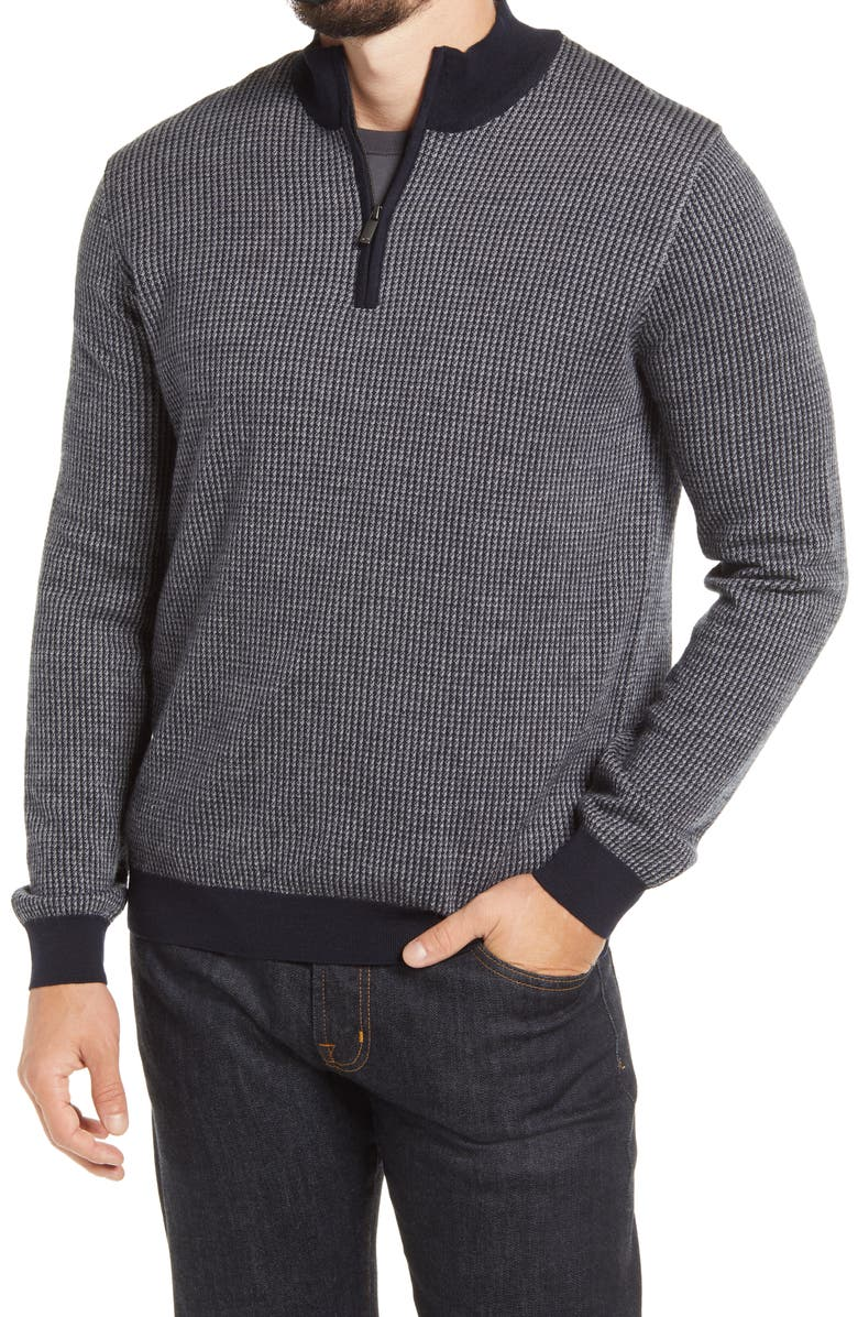 BRAX Steffen Quarter Zip Sweater, Main, color, 410