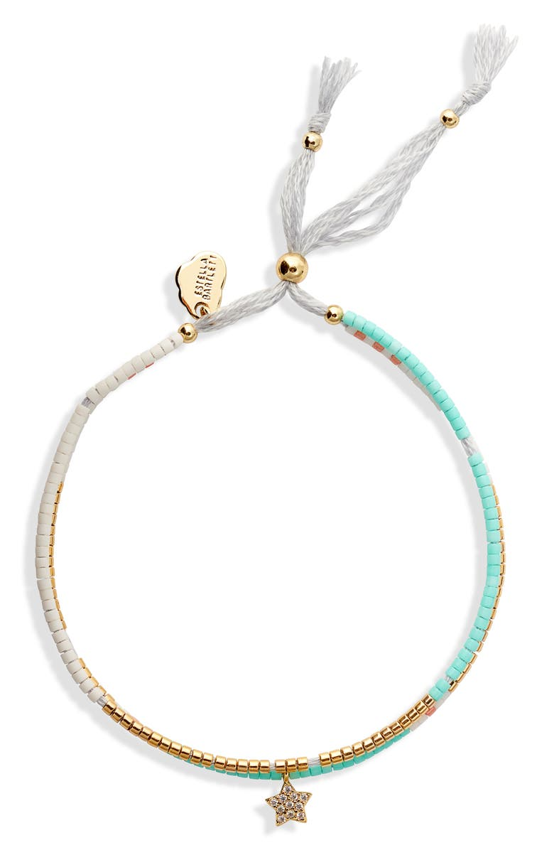 ESTELLA BARTLETT Phoebe Seed Bead Bracelet, Main, color, GOLD