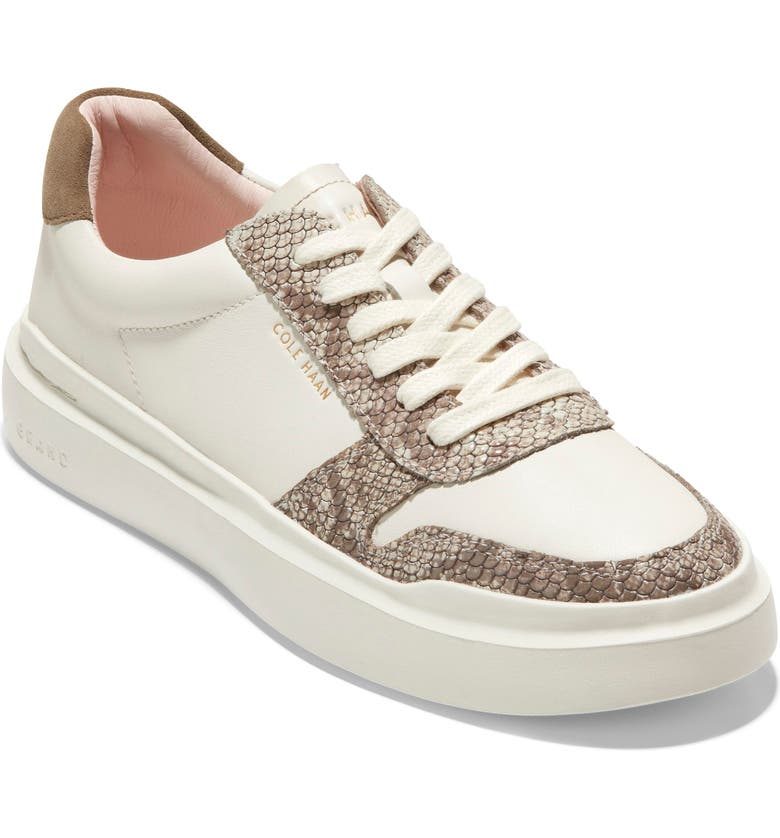 COLE HAAN GrandPro Rally Sneaker, Main, color, IVORY/ GLASS SNAKE PRINT
