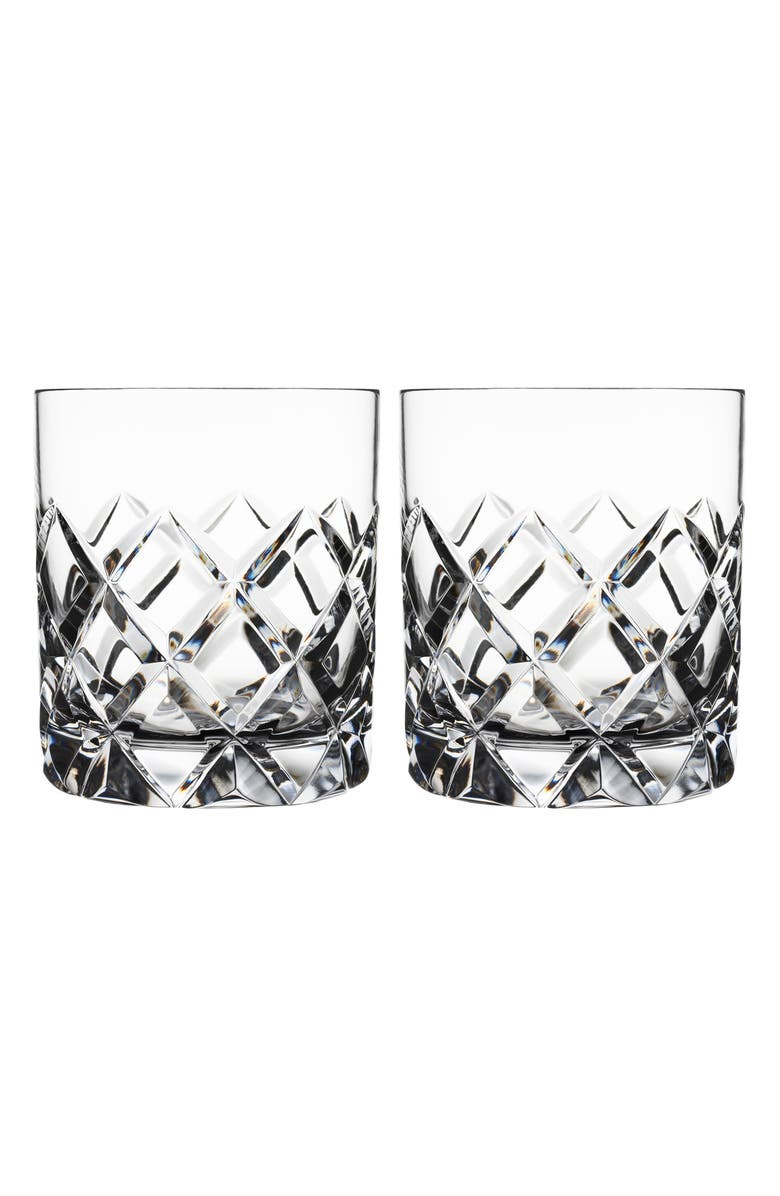 ORREFORS Sofiero Set of 2 Crystal Old Fashioned Glasses, Main, color, 100