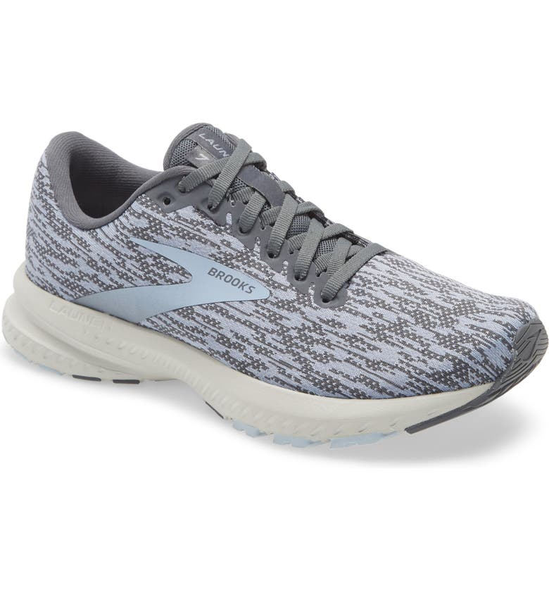 BROOKS Launch 7 Running Shoe, Main, color, TURBULENCE/ GREY/ BLUE