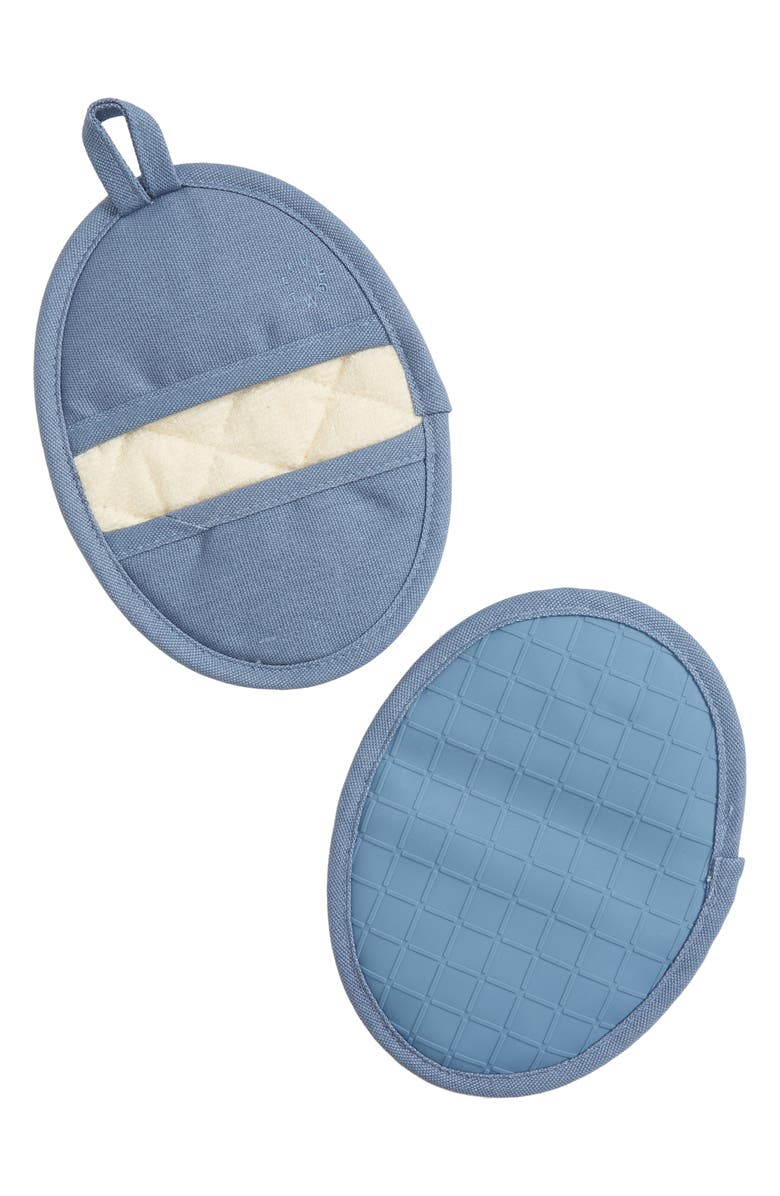FIVE TWO BY FOOD52 Set of Two Silicone Potholders, Main, color, BLUEBERRY