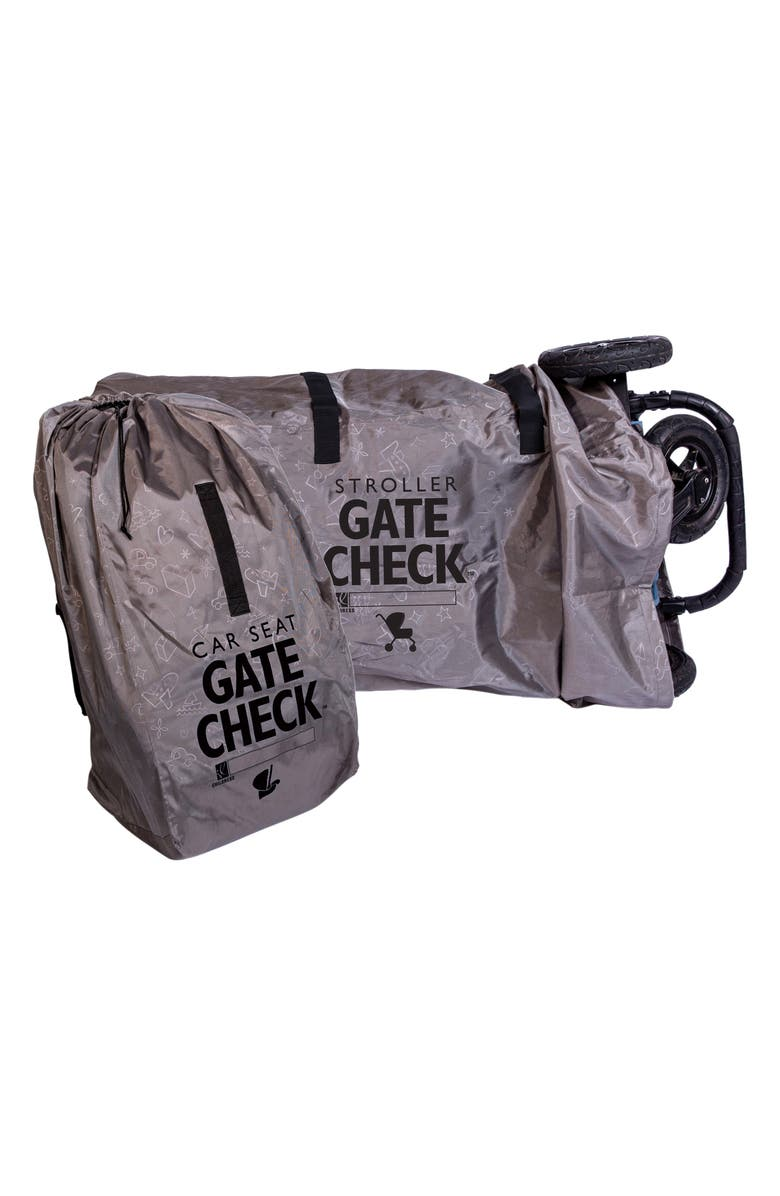 J.L. CHILDRESS Gate Check Car Seat & Double Stroller Bags Set, Main, color, Grey