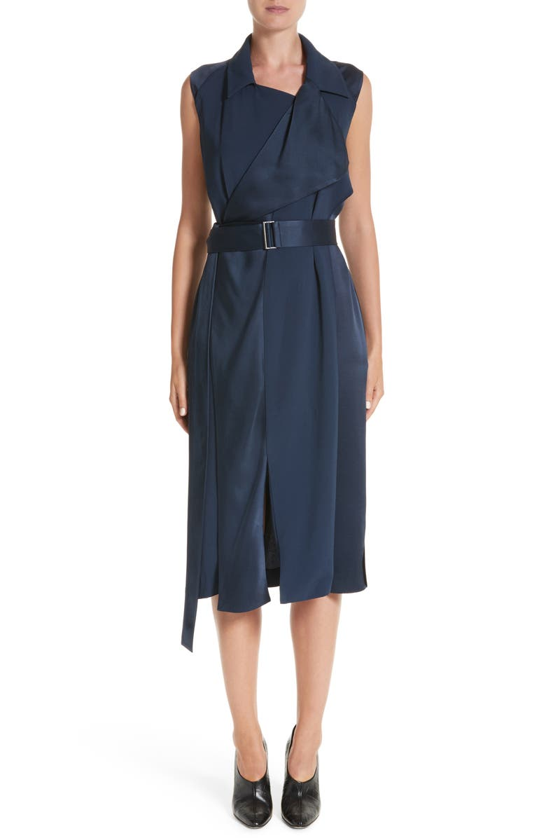JASON WU COLLECTION Jason Wu Crepe Back Satin Belted Wrap Dress, Main, color, 410