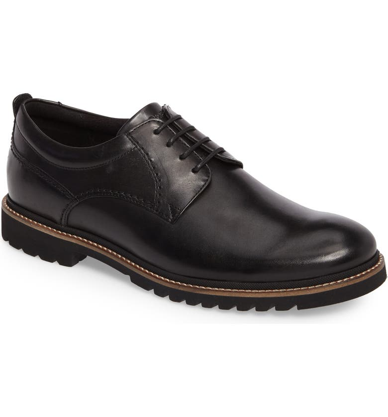 ROCKPORT Marshall Buck Shoe, Main, color, BLACK LEATHER