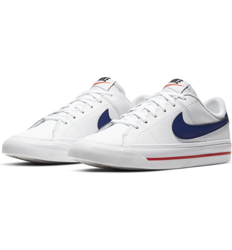 NIKE Court Legacy Sneaker, Main, color, WHITE/ ROYAL BLUE/ RED