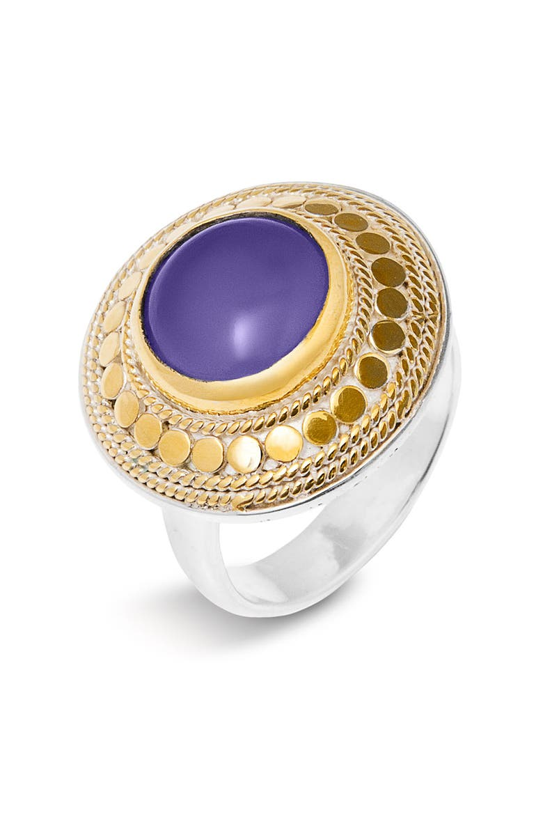 ANNA BECK 'Gili Stone' Small Round Ring, Main, color, 710