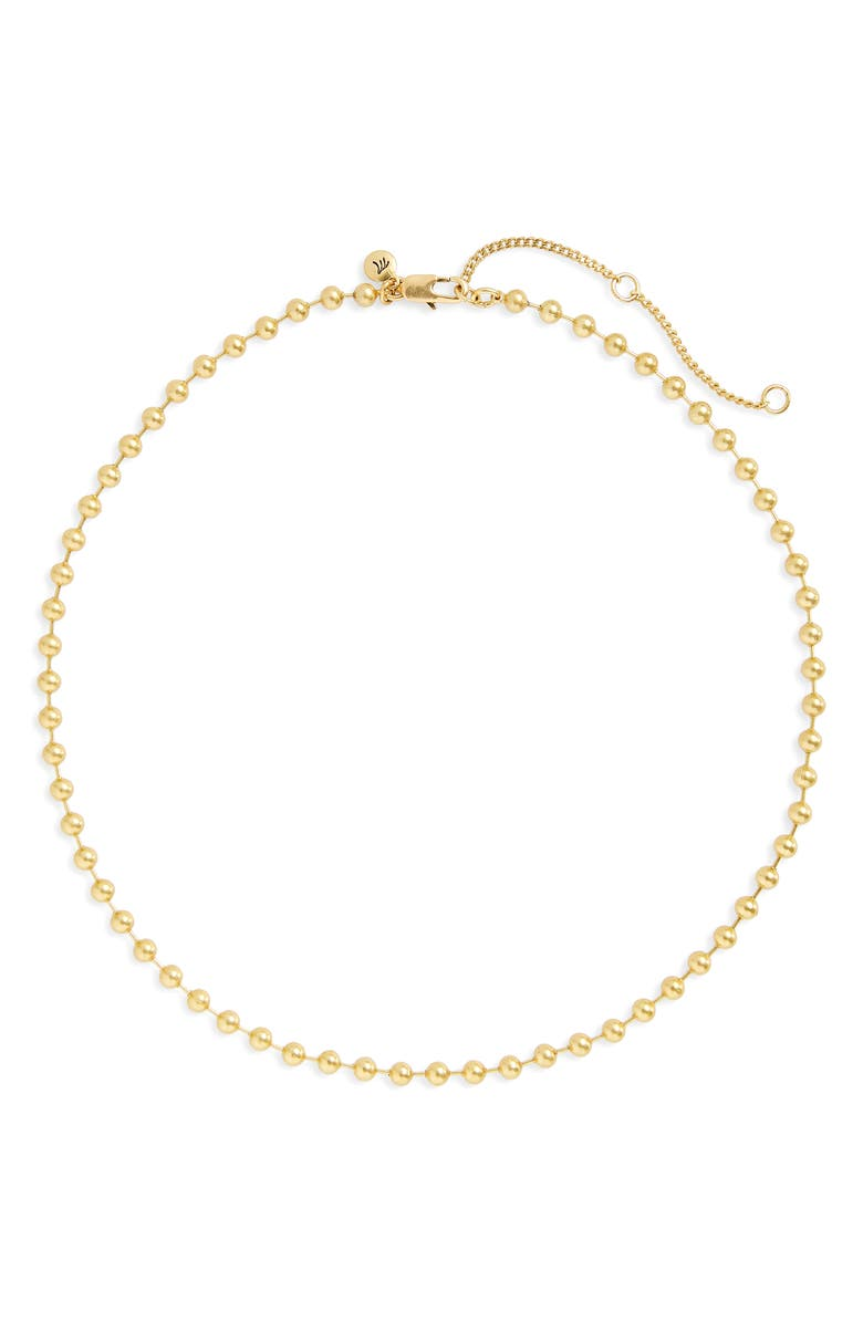 MADEWELL Ball Chain Necklace, Main, color, VINTAGE GOLD