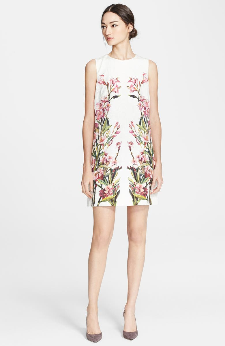 DOLCE&GABBANA Oleander Shift Dress, Main, color, 110