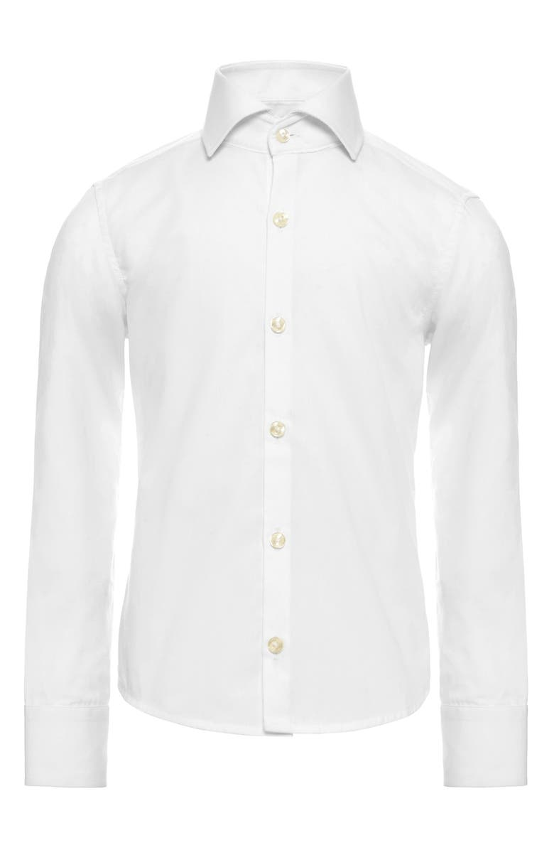 OPPOSUITS White Knight Dress Shirt, Main, color, WHITE