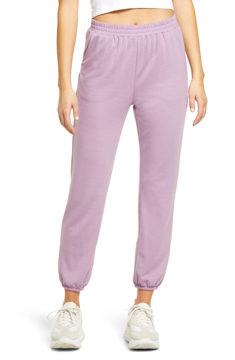ALL IN FAVOR French Terry Joggers, Main, color, LAVENDER