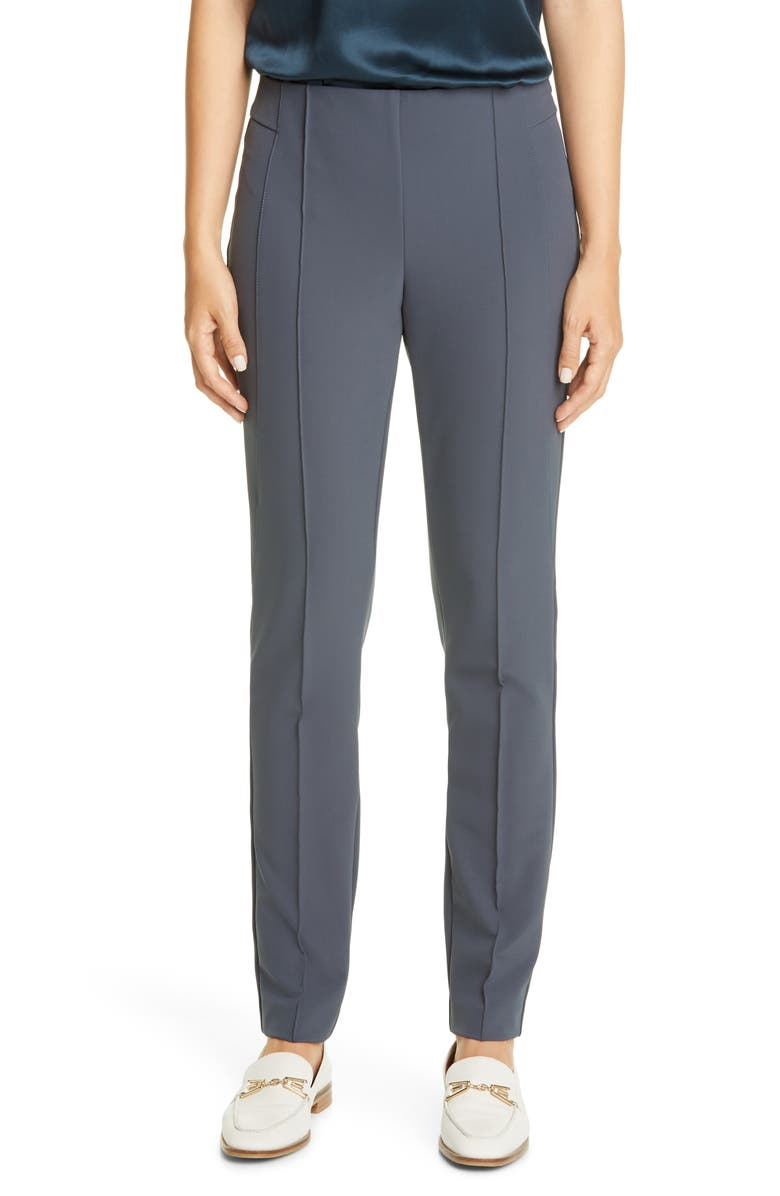 LAFAYETTE 148 NEW YORK Gramercy Acclaimed Stretch Pants, Main, color, BLUE STORM