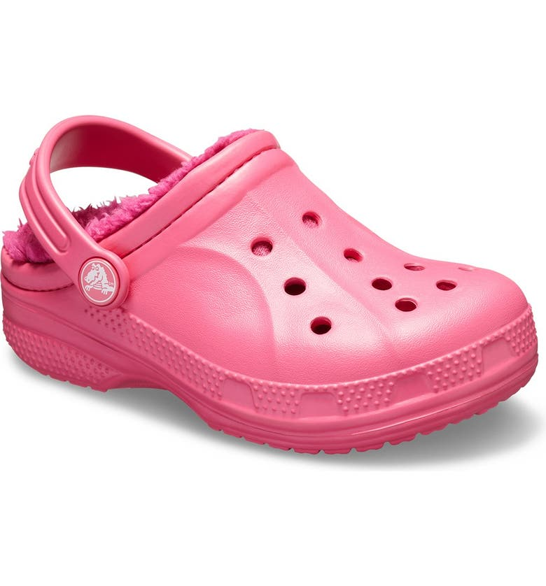 CROCS Winter Faux Shearling Lined Clog, Main, color, PARADISE PINK/BERRY