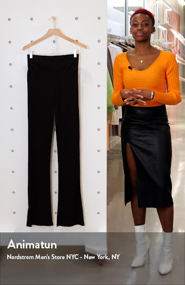 Rib Knit Flare Pants, sales video thumbnail