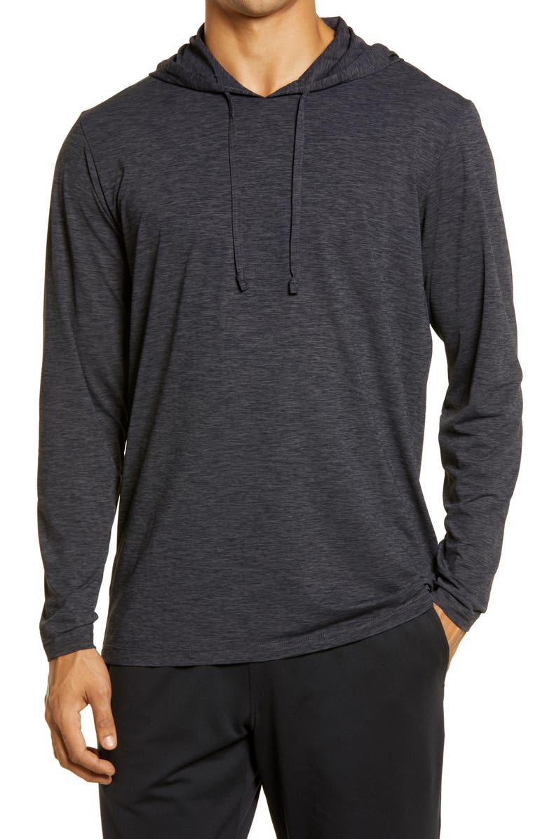 ANETIK Low Pro Tech Hoodie, Main, color, CHARCOAL HEATHERED