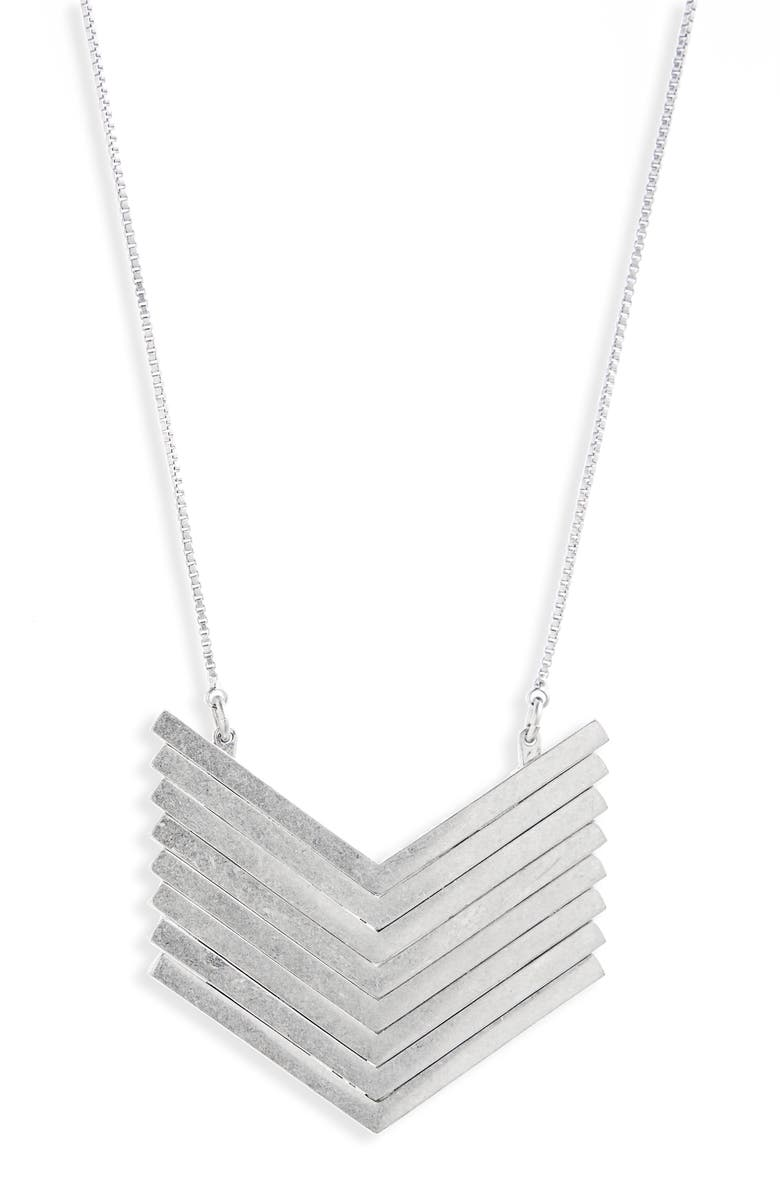 MADEWELL Arrowstack Necklace, Main, color, 040