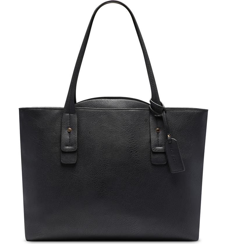 SOLE SOCIETY Beryl Faux Leather Tote, Main, color, 001