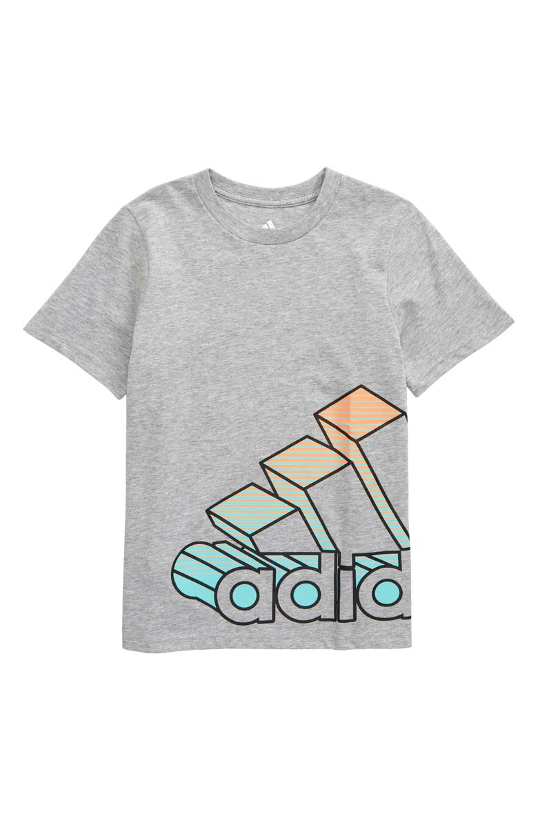 ADIDAS Kids' Wrap Badge of Sport Graphic Tee, Main, color, GREY HEATHER