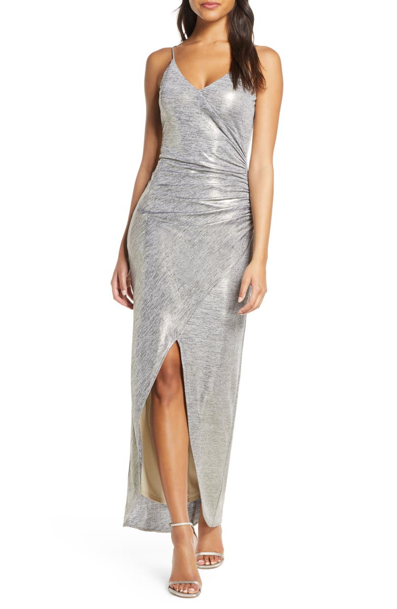 VINCE CAMUTO Ruched Side Evening Gown, Main, color, 710