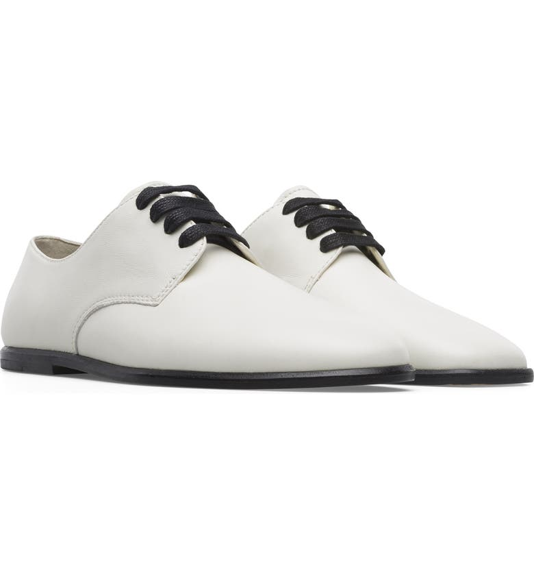 CAMPER Mixed Toe Leather Derby, Main, color, WHITE NATURAL