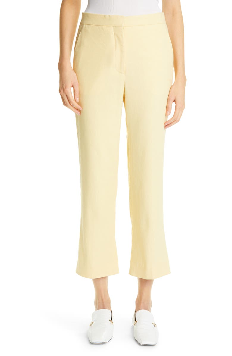 ST. JOHN COLLECTION Twill Crop Pants, Main, color, BUTTER BUTE