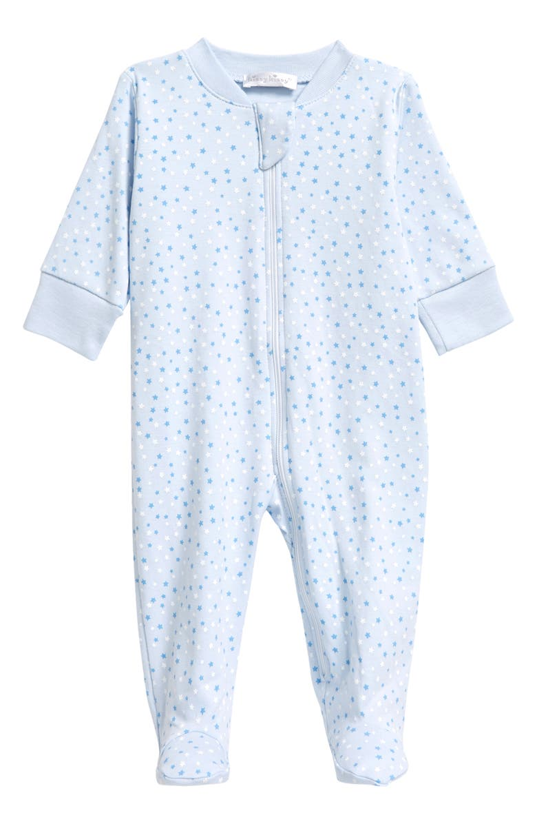 KISSY KISSY Superstars Zip Footie, Main, color, LIGHT BLUE