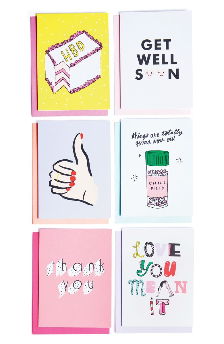 BAN.DO 'Hey Girl Hey' Greeting Cards, Main, color, 650