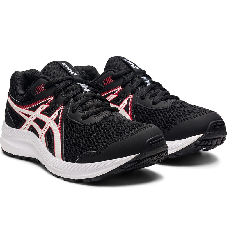 ASICS Contend 7 Sneaker, Main, color, BLACK/ELECTRIC RED