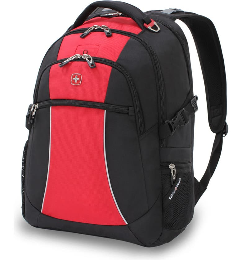 """SWISSGEAR 17"""" Backpack, Main, color, RED/ BLACK"""