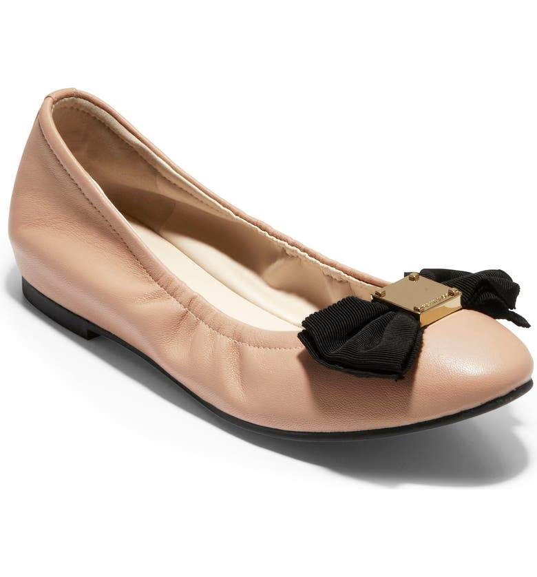 COLE HAAN Tali Ballet Flat, Main, color, NUDE LEATHER