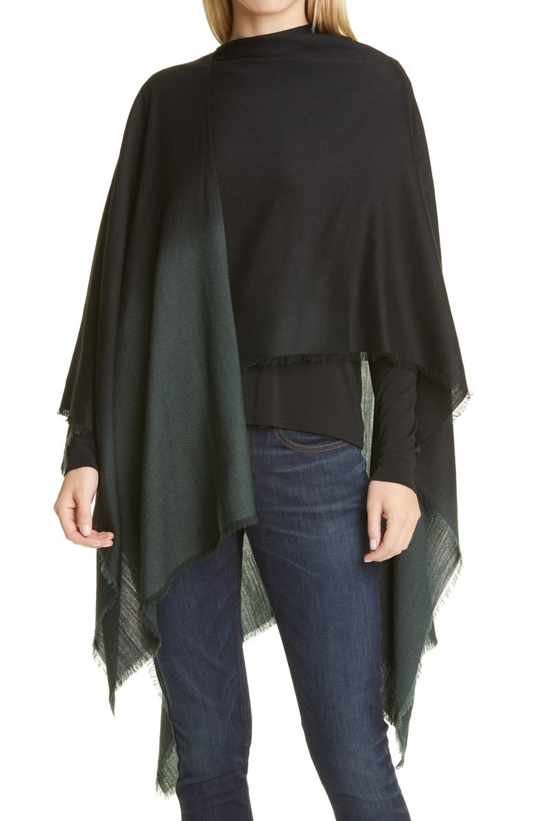 EILEEN FISHER Ombré Poncho Wrap, Main, color, 300