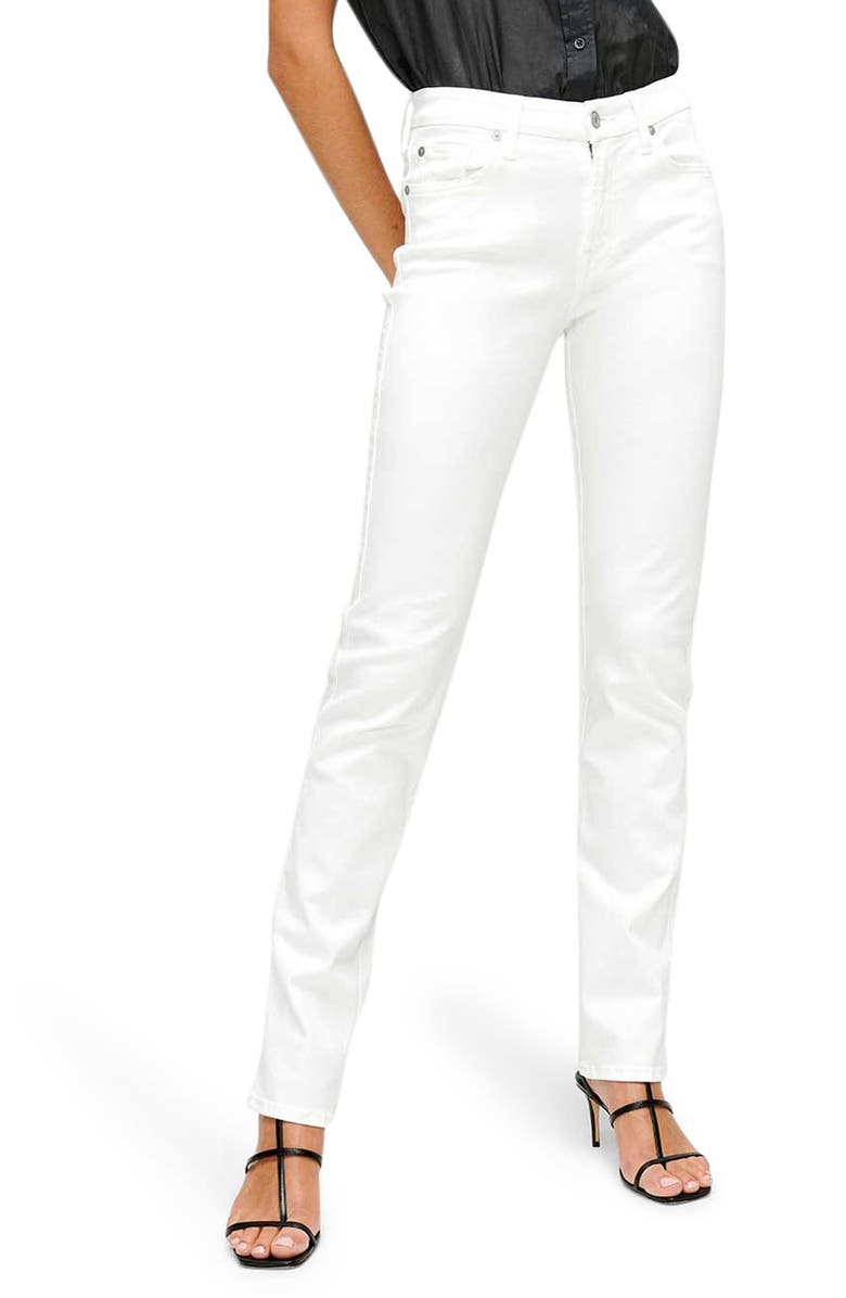 7 FOR ALL MANKIND<SUP>®</SUP> Kimmie Straight Leg Jeans, Main, color, LUXE WHITE