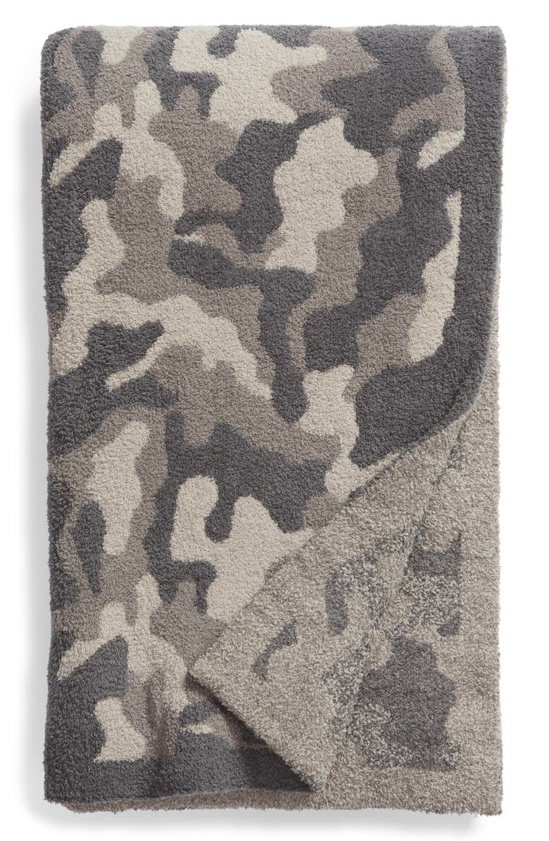 BAREFOOT DREAMS<SUP>®</SUP> CozyChic<sup>®</sup> Camo Throw Blanket, Main, color, 020