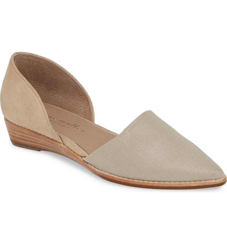 BETTYE MULLER CONCEPTS Cage d'Orsay Wedge, Main, color, GOLD METALLIC SUEDE