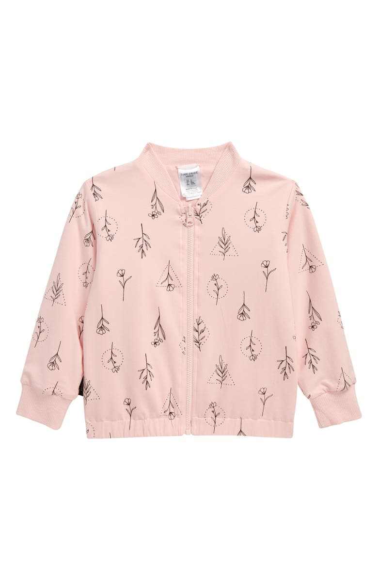 TINY TRIBE Kids' Floral Reversible Jacket, Main, color, PINK