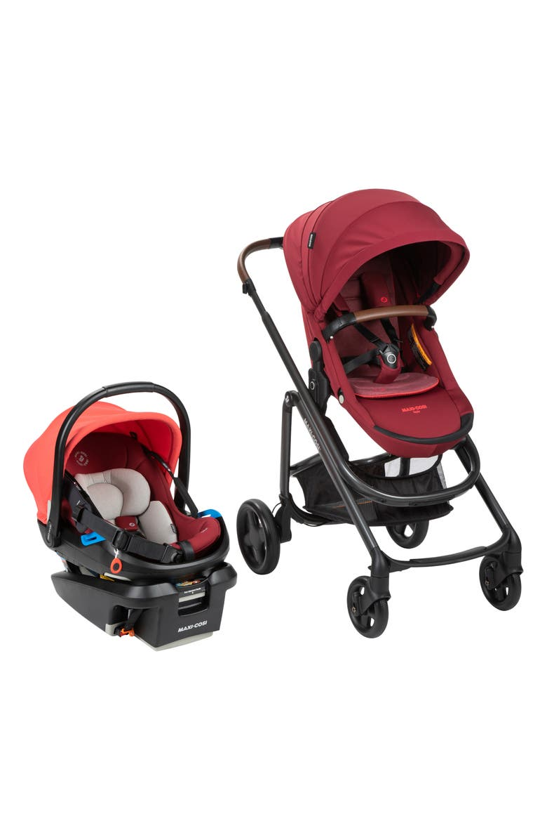 MAXI-COSI<SUP>®</SUP> Coral XP Infant Car Seat & Tayla XP Stroller Travel System, Main, color, ESSENTIAL RED