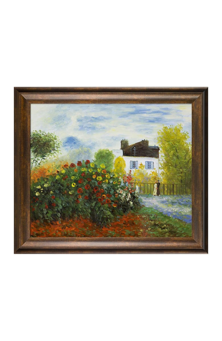 """OVERSTOCK ART The Garden of Monet at Argenteuil, 1873 Framed Oil Reproduction of an Original Painting by Claude Monet - 29""""x25"""", Main, color, MULTI"""