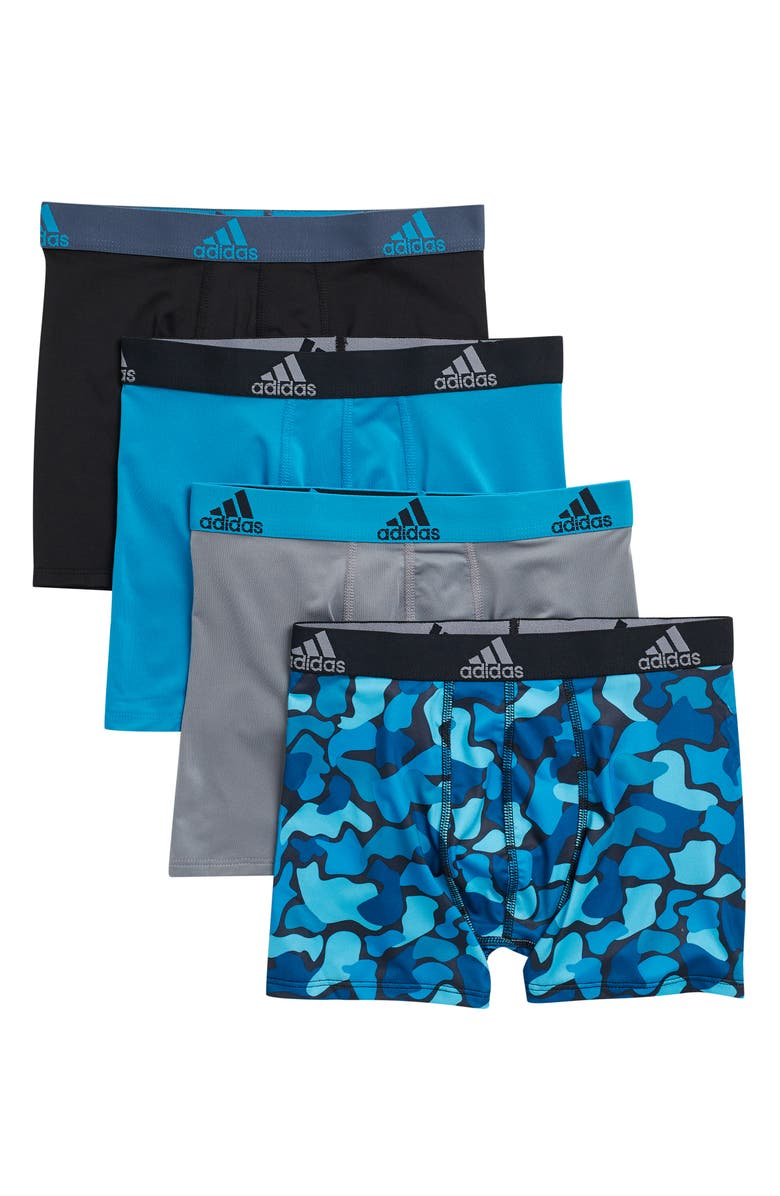 ADIDAS Performance Graphic Boxer - Pack of 4, Main, color, GREY